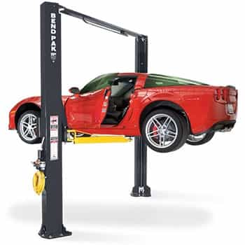 BendPak XPR 10AS 168 Clearfloor Dual Width Extra Tall Two Post Car