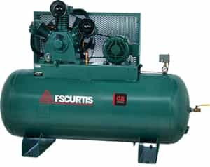 FS-Curtis CA5+ Simplex 5HP 80-Gallon Horizontal Ultra Pack Air Compressor (230V 1-Phase) w/Magnetic Motor Starter (1/60/230V -FCA05E57H8U-A2L1XX, 