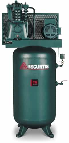Fs curtis ca7 5 80 gallon 7 5 hp vertical two stage for 7 5 hp air compressor motor