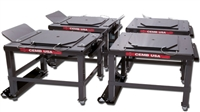 "CEMB 13000DB24CSK 24"" Wheel Stand Kit w/Turn Plates (Set of 4) - CEMB-13000DB24CSK"
