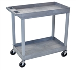 Luxor EC11-G Gray 2-Shelf Tub Cart