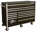 "Extreme Tools® RX Series RX552512RC Black 55"" 12-Drawer Roller Cabinet - EXTRX552512RCBK"