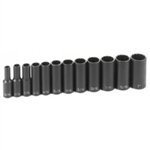 "Grey Pneumatic 12 Piece 3/8"" Drive 12 Point Deep Fractional Impact Socket Set GRE1202D"