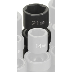 "Grey Pneumatic 1/2"" Drive 21mm Metric Universal Impact Socket GRE2021UM"