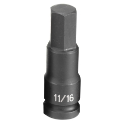 "Grey Pneumatic 1/2"" Drive 11/16"" Fractional Hex Driver Impact Socket GRE2922F"