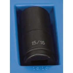 "Grey Pneumatic 3/4"" Drive 15/16"" 6 Point Deep Fractional Impact Socket GRE3030D"