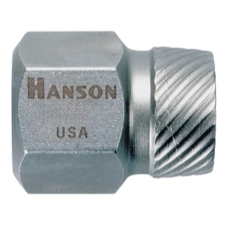 "Hanson 1/8"" Hex Head Multi Spline Screw Extractor HAN52201"