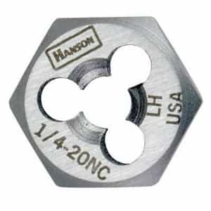 "Hanson 9/16"" - 18 NF High Carbon Steel Re-threading Right Hand Hexagon Fractional Die HAN7249"
