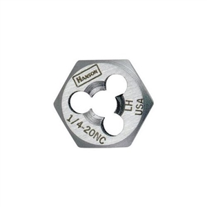 "Hanson 3/4"" - 10 NC High Carbon Steel Re-threading Right Hand Hexagon Fractional Die HAN7258"