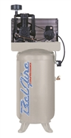 BelAire 318VN 5 HP 80 Gallon Vertical Two Stage Single Phase Electric Reciprocating Air Compressor P/N 8090250017