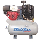 BelAire 3G3HH 11 HP 30G Horizontal Two Stage Gas Driven Air Compressor P/N 8090250036