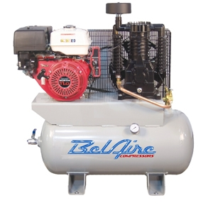gas air compressor. belaire 3g3hh 11 hp 30g horizontal two stage gas driven air compressor p/n 8090250036