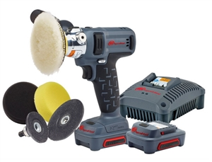 Ingersoll Rand G1621-K2 IQV12 Polisher/Sander Kit With (2) Ahr Li-Ion Batteries - IRTG1621-K2