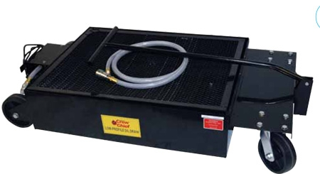 Low Profile Oil Drain Pan With Electric Pump