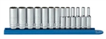 "KD Tools 1/4"" Drive 13 Piece 12 Point Deep Metric Socket Set KDT80308"