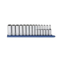 "KD Tools 3/8"" Drive 14 Piece 12 Point Deep Metric Socket Set KDT80562"