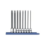 "KD Tools 8 Piece 3/8"" Drive Metric Long Ball Hex Bit Socket Set KDT80573"