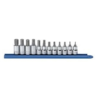 "KD Tools 3/8"" Drive 12 Piece Metric Hex Bit Socket Set KDT80580"