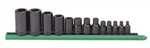 "KD Tools 13 Piece 1/4"", 3/8"", and 1/2"" Drive External Torx® Socket Set KDT80583"