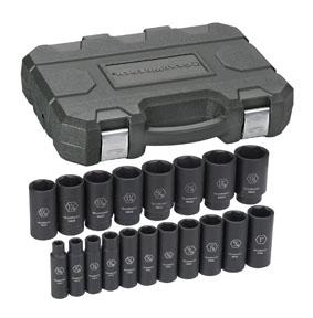 GearWrench 84562N 1//2 Drive 6 Point Deep Impact SAE Socket 1-3//8 Black