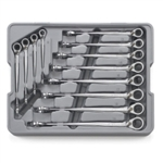 KD Tools 12 Piece X-Beam Reversible Metric Combination Ratcheting Wrench Set KDT85388