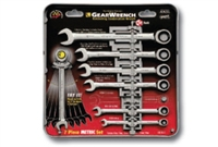 GearWrench® 9417 7 Pc. Combination Ratcheting Wrench Set Metric - KDT-9417