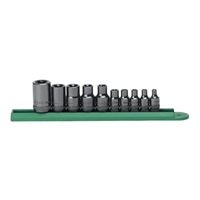"KD Tools 10 Piece 1/4"", 3/8"", and 1/2"" Drive External Torx Socket Set KDT80582"