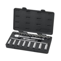 "KD Tools 1/2"" Drive 23 Piece 6 and 12 Point SAE Socket Set (Standard/Deep) KDT80707"