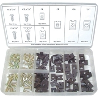 K Tool International 170 Piece U-Clip and Screw Assortment KTI00084