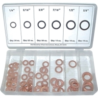 K Tool International 110 Piece Copper Washer Assortment KTI00089
