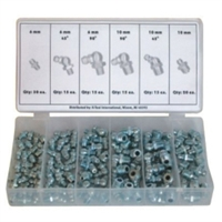 K Tool International 110 Piece Metric Grease Fitting Assortment KTI00096