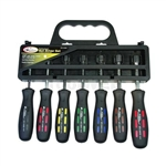 K Tool International 7 Piece Professional Series Fractional Nut Driver Set KTI14400