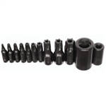 K Tool International 12 Piece Master Tamper Proof Torx Bit Set KTI21500