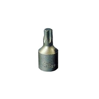 K Tool International 1/4in. Drive T-27 Chrome Vanadium Steel Torx Socket KTI21827