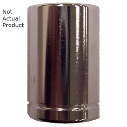 "K Tool International 1/4"" Drive 15mm 6 Point Shallow Chrome Socket KTI26115"