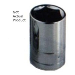 "K Tool International 1/2"" Drive 10mm 6 Point, Shallow Chrome Socket KTI28110"