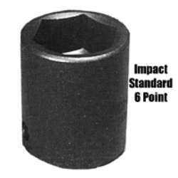 K Tool International 1/2in. Drive 18mm Standard 6 Point Impact Socket KTI38118