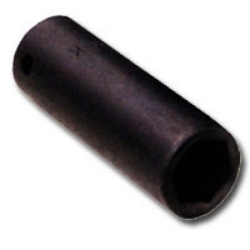 K Tool International 1/2in. Drive 15mm Deep 6 Point Impact Socket KTI38215