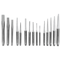K Tool International 15 Piece Punch and Chisel Set In Kit Bag KTI72901K