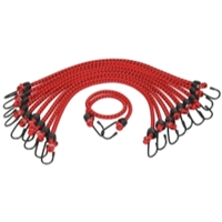 "K Tool International 3/8"" X 24"" 10/pk General Purpose Bungee Cord KTI73831"