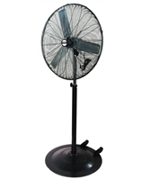 "K Tool International 77730 30"" Adjustable Height 3-Speed Pedestal Fan - KTI77730"