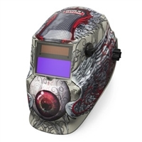 Lincoln Electric FK3190-1 Bloodshot 600S Variable Shade ADF Welding Helmet - LEW-K3190-1