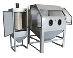 Cyclone Manufacturing M4848 TT Abrasive Sandblasting Cabinet w/Dust Collector