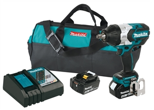 "Makita XWT08M 18V LXT Lithium-Ion 1/2"" Drive Brushless Impact Wrench Kit - MAKXWT08M"