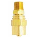 "Milton Industries Re-usable Brass Hole Fitting Male End 3/8"" Hose I.D. 1/4"" NPT MIL621-11"