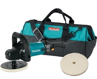 "Makita 9237CX2 7"" Variable Speed Polisher Kit with Tool Bag - MKT-9237CX2"