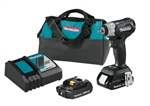 "Makita XWT12RB 18V LXT® Lithium‑Ion Sub‑Compact Brushless Cordless 3/8"" Sq. Drive Impact Wrench Kit - MKT-XWT12RB"