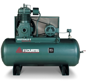 FS-Curtis ML15 120G Horizontal 15HP Simplex Tank Mounted Electric Air Compressor w/Magnetic Motor Starter (3/60/200-208V - FML15D97H1S-A9L1XX, 3/60/230V - FML15D97H1S-A3L1XX, 3/60/460V - FML15D97H1S-A4L1XX)