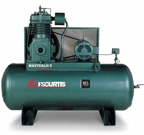 Electric Air Compressor >> Fs Curtis Ml15 120g Horizontal 15hp Simplex Tank Mounted Electric Air Compressor