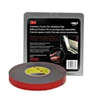 "3M 7/8"" x 20 yds. Automotive Acrylic Plus Attachment Tape, Black MMM6383"